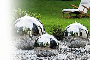 edelstahlkugel edelstahl f r kugelbrunnen auf. Black Bedroom Furniture Sets. Home Design Ideas